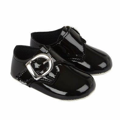 Baypods B656 in black patent - Early Days Baby and Toddler Shoes for Boys and Girls