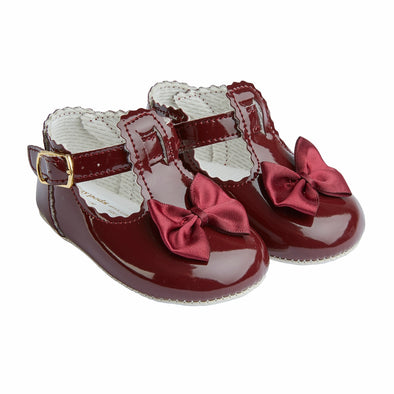 Baypods B861 in burgundy - Early Days Baby and Toddler Shoes for Boys and Girls