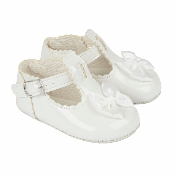 Baypods B861 in white - Early Days Baby and Toddler Shoes for Boys and Girls