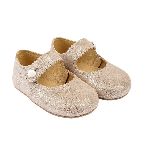 Early Days EMMA in beige glitter - Early Days Baby and Toddler Shoes for Boys and Girls