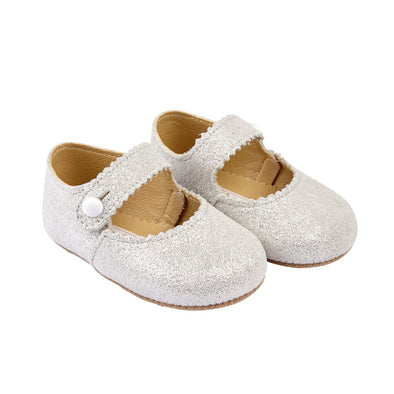 Early Days EMMA in white glitter - Early Days Baby and Toddler Shoes for Boys and Girls