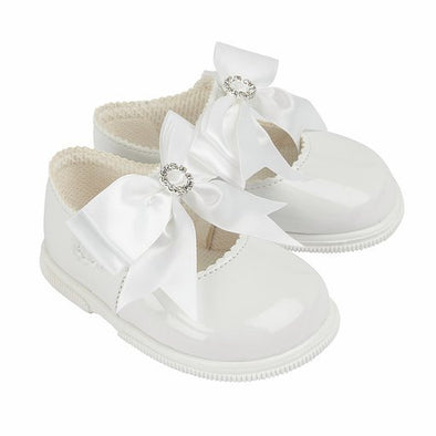 Baypods H035 in white patent - Early Days Baby and Toddler Shoes for Boys and Girls