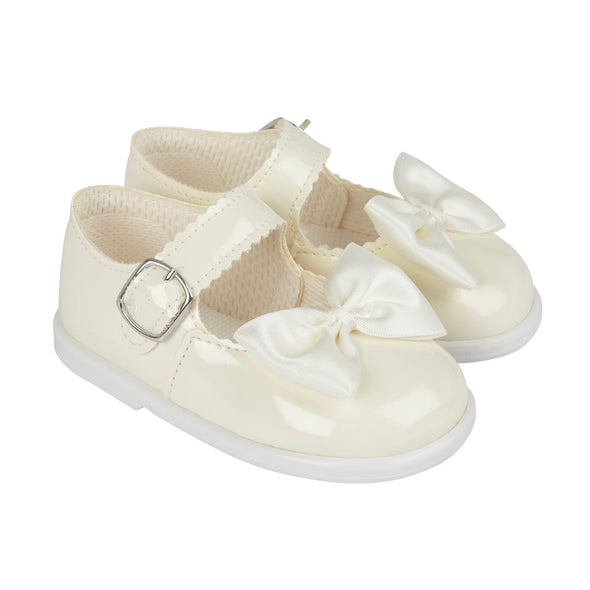 Baypods H505 in ivory patent - Early Days Baby and Toddler Shoes for Boys and Girls