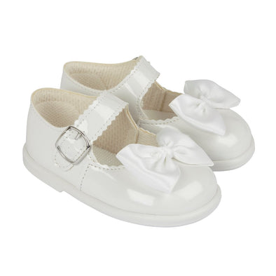 Baypods H505 in white patent - Early Days Baby and Toddler Shoes for Boys and Girls