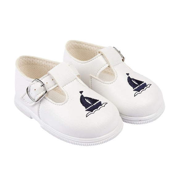 Baypods H512 in white/navy - Early Days Baby and Toddler Shoes for Boys and Girls