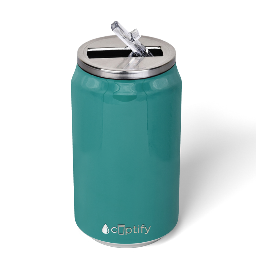 Cuptify 12 oz Cola Can Bottle - Aqua Blue