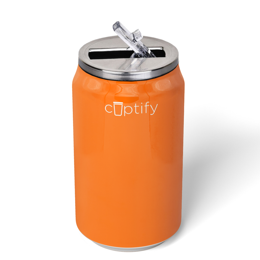 Cuptify 12 oz Cola Can Bottle - Bright Orange