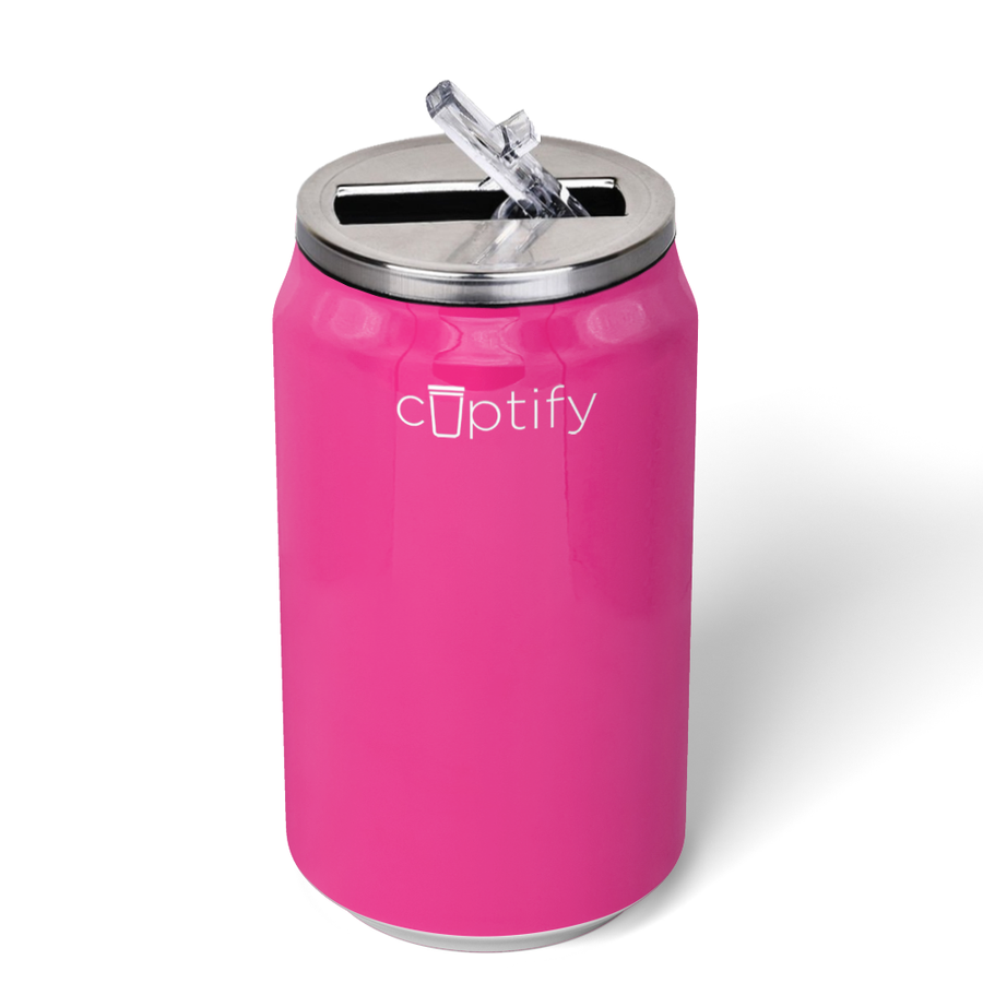 Cuptify 12 oz Cola Can Bottle - Bright Pink