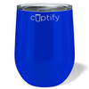 Cuptify 12 oz Stemless Wine Tumbler - Blue Gloss