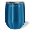 Cuptify 12 oz Stemless Wine Tumbler - Blue Translucent