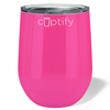 Cuptify 12 oz Stemless Wine Tumbler - Bright Pink