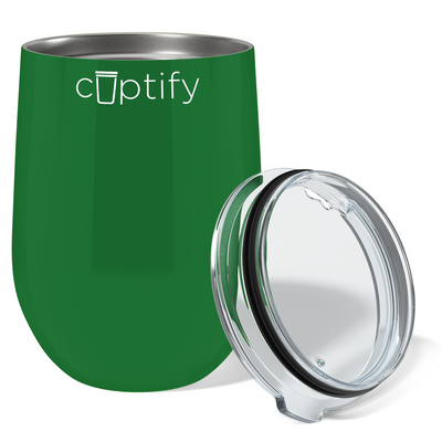 Cuptify 12 oz Stemless Wine Tumbler - Green Gloss