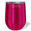 Cuptify 12 oz Stemless Wine Tumbler - Hot Pink Translucent