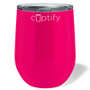 Cuptify 12 oz Stemless Wine Tumbler - Hot Pink
