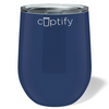 Cuptify 12 oz Stemless Wine Tumbler - Navy Blue
