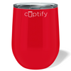 Cuptify 12 oz Stemless Wine Tumbler - Red Gloss