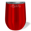 Cuptify 12 oz Stemless Wine Tumbler - Red Translucent