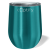 Cuptify 12 oz Stemless Wine Tumbler - Teal Translucent