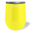 Cuptify 12 oz Stemless Wine Tumbler - Yellow Gloss