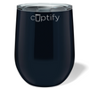 Cuptify 12 oz Stemless Wine Tumbler - Black Gloss