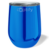 Cuptify 12 oz Stemless Wine Tumbler - Blue Candy