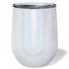 Cuptify 12 oz Stemless Wine Tumbler - White Glitter