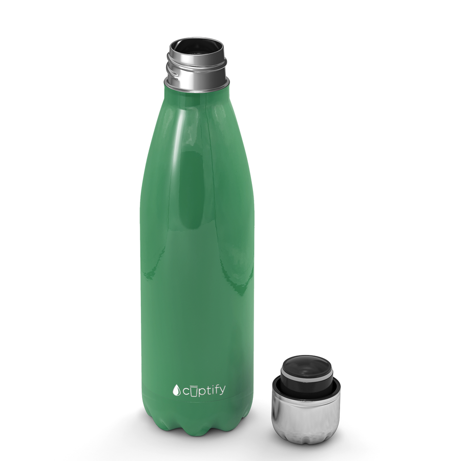 Cuptify 17 oz Cola Stainless Steel Water Bottle - Kelly Green