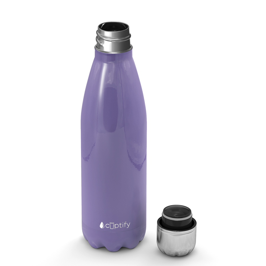 Cuptify 17 oz Cola Stainless Steel Water Bottle - Lavender Gloss