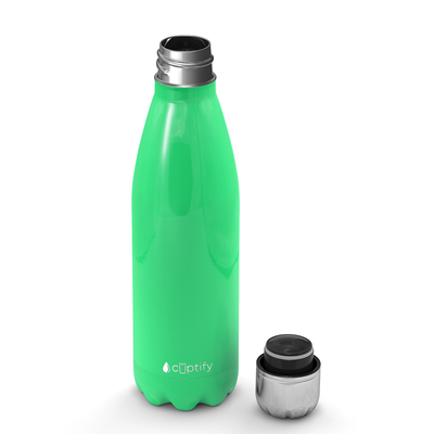 Cuptify 17 oz Cola Stainless Steel Water Bottle - Neon Green