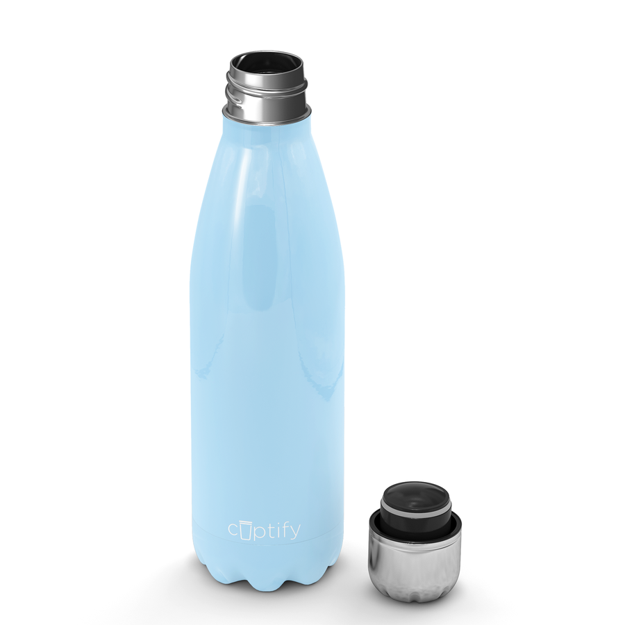 Cuptify 17 oz Cola Stainless Steel Water Bottle - Pastel Blue