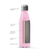 Cuptify 17 oz Cola Stainless Steel Water Bottle - Pastel Pink