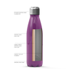 Personalized Sabrina Style 17 oz Cola Stainless Steel Water Bottle - Plum Wine