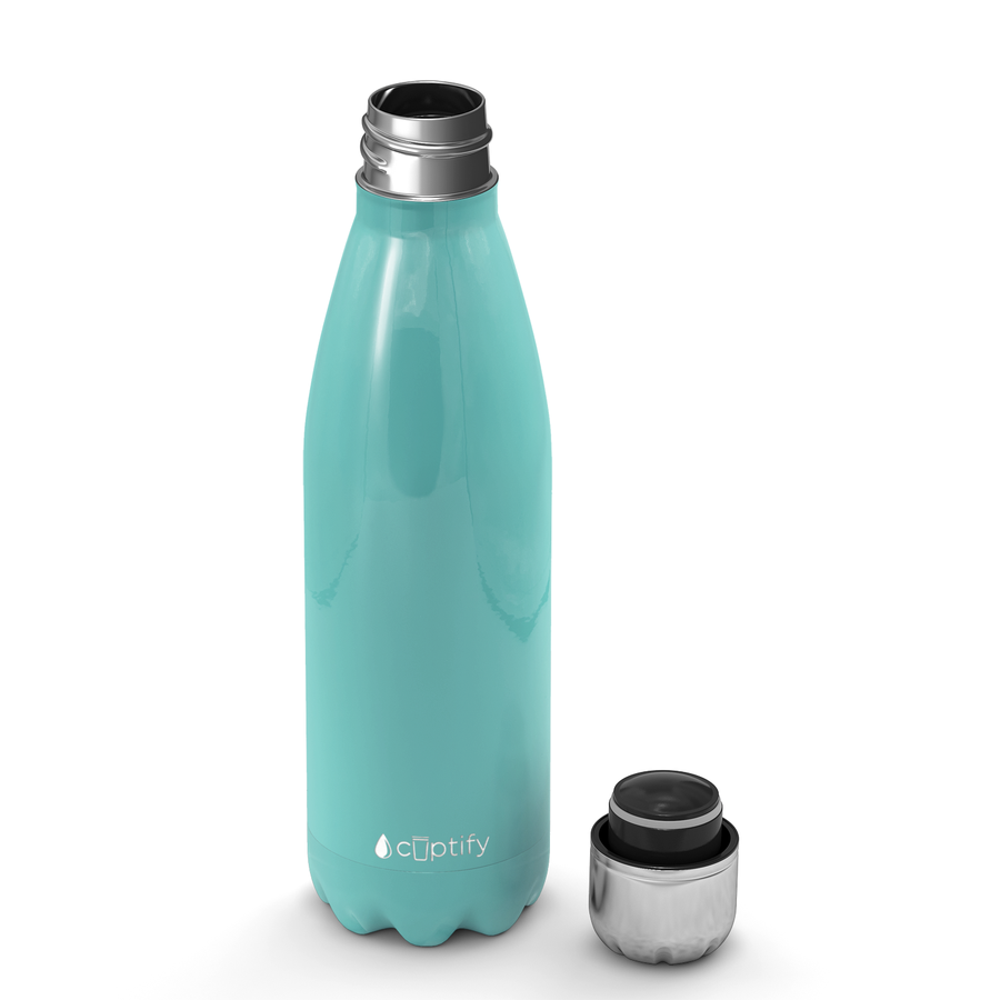 Cuptify 17 oz Cola Stainless Steel Water Bottle - Seafoam Gloss
