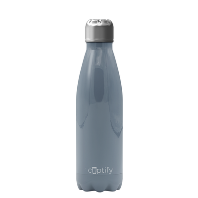 Cuptify 17 oz Cola Stainless Steel Water Bottle - Squirrel Gray