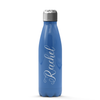 Personalized Rachel Style 17 oz Cola Stainless Steel Water Bottle - Sky Blue