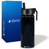 Cuptify 18 oz Stainless Steel Bottle - Black Gloss