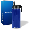 Cuptify 18 oz Stainless Steel Bottle - Blue Gloss