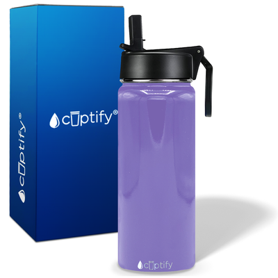 Cuptify 18 oz Stainless Steel Bottle - Lavender Gloss