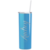 Cuptify Personalized Engraved 20 oz Skinny Tumbler - Baby Blue Gloss