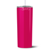 Personalized RN Nurse Life Pulse 20 oz Skinny Tumbler - Bright Pink