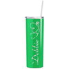 Personalized Nurse Laser Engraved 20 oz Skinny Tumbler - Neon Green Gloss