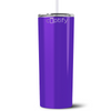 Personalized RN Nurse Life Pulse 20 oz Skinny Tumbler - Purple Gloss