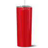 Personalized RN Nurse Life Pulse 20 oz Skinny Tumbler - Red Gloss