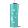 Personalized RN Nurse Life Pulse 20 oz Skinny Tumbler - Seafoam