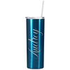 Cuptify Personalized Engraved 20 oz Skinny Tumbler - Blue Translucent