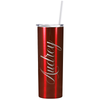 Cuptify Personalized Engraved 20 oz Skinny Tumbler - Red Translucent