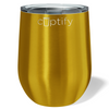 Cuptify 12 oz Stemless Wine Tumbler - Gold Translucent