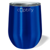 Cuptify 12 oz Stemless Wine Tumbler - Intense Blue Translucent