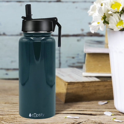 Cuptify 32 oz Stainless Steel Bottle - Blue Sea