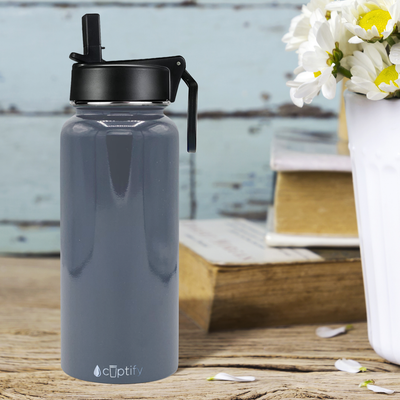 Cuptify 32 oz Stainless Steel Bottle - Periwinkle Gray